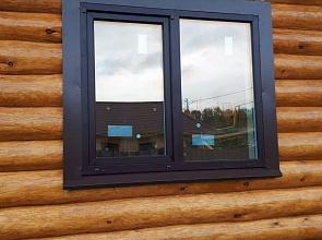 Окна ПВХ, двери из алюминия и ПВХ в деревянном доме